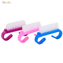15pcs Purple Blue Pink Nail Art Dust Brushes Gel Polish Cleaning Brush For Manicure Pedicure Acrylic Care Tools