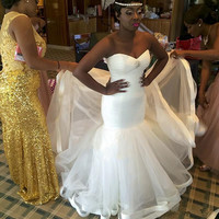 2018 African Simple Mermaid Wedding Dress Sweetheart Wedding Bridal Gowns Wedding Party Dresses Custom Made
