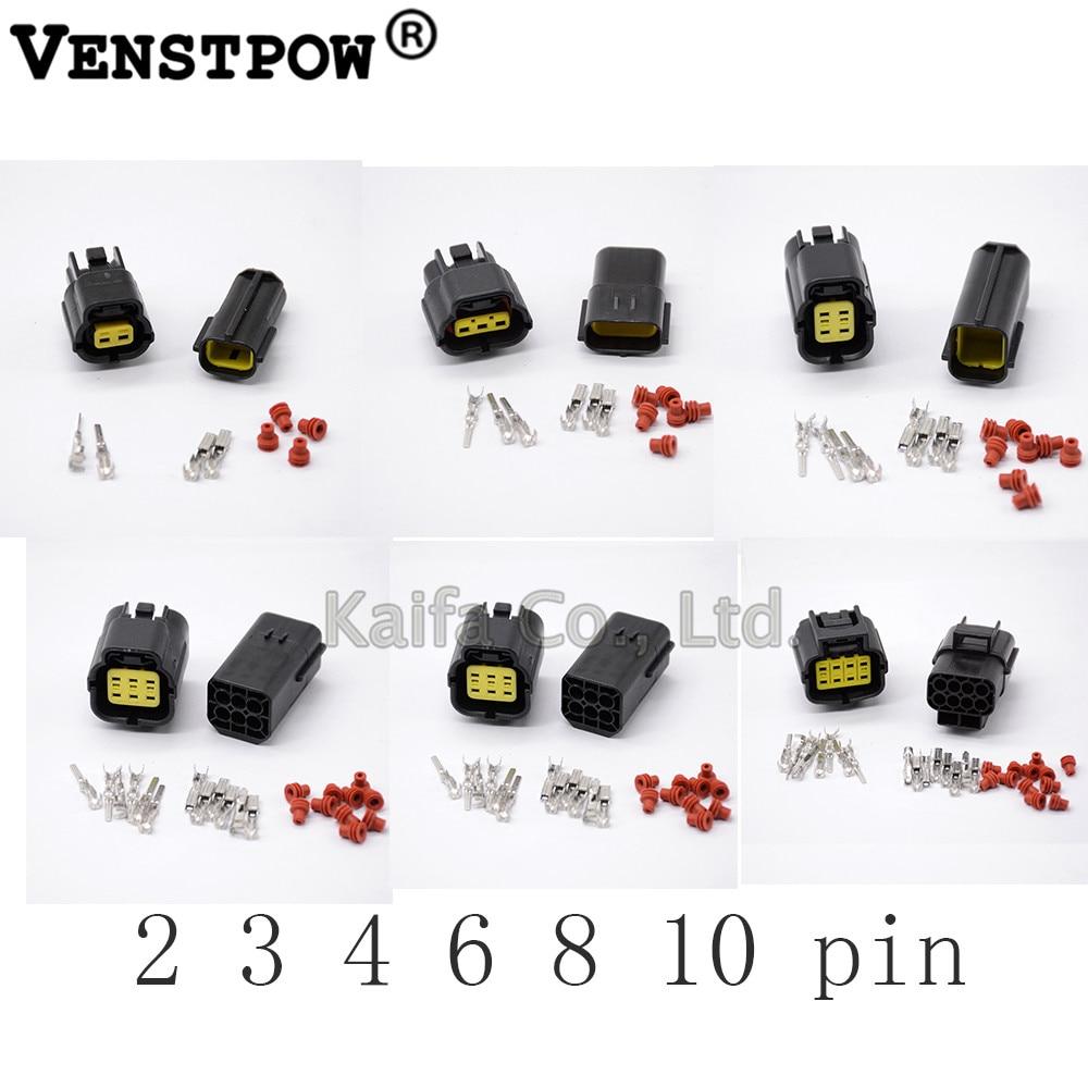 5pcs 2pin Waterproof Electrical Wire Connector Plug sheath silica gel sheath