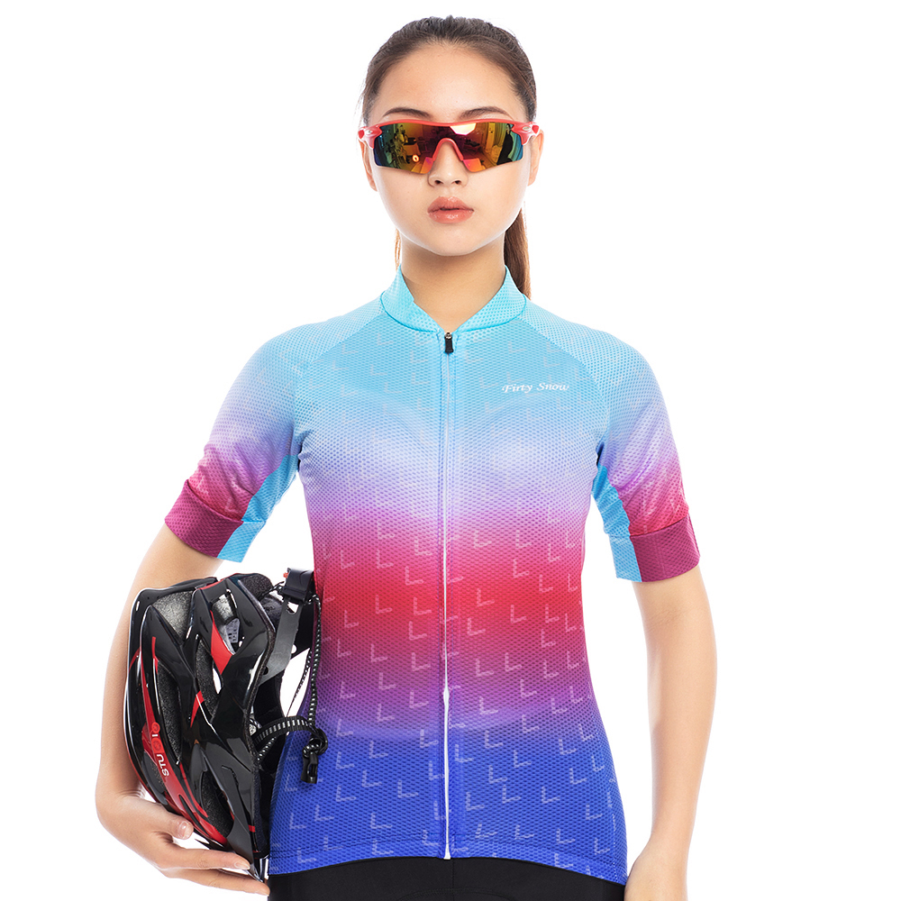 Firty Snow 2018 Short Sleeve Quick Cycling Sets Bicycle Clothing Wear Cycling Jersey Bicycles Shorts 9D Gel Pad