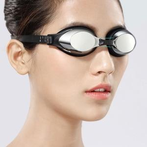 Image 5 - Yunmai yüzme gözlükleri seti HD anti sis burun güdük kulaklıklar silikon yüzücü gözlükleri siyah altın kiti