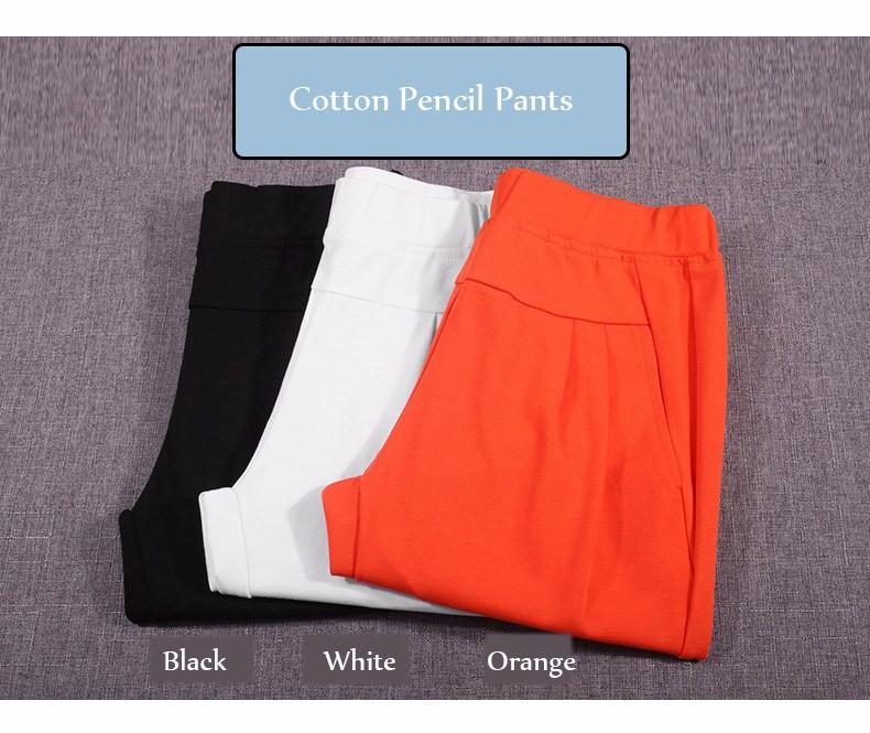 Plus Size S-4XL Harem Pants Women Solid Elastic Calf Length Summer Pants Casual High Waist Sport Pants Capris Trousers 2016 A313 g