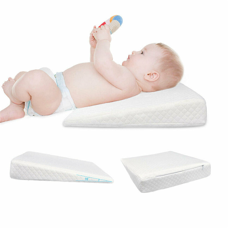 PUDCOCO Anti Roll Baby Wedge Pillow for Newborn Baby for Comfortable Sleep of Infant 1
