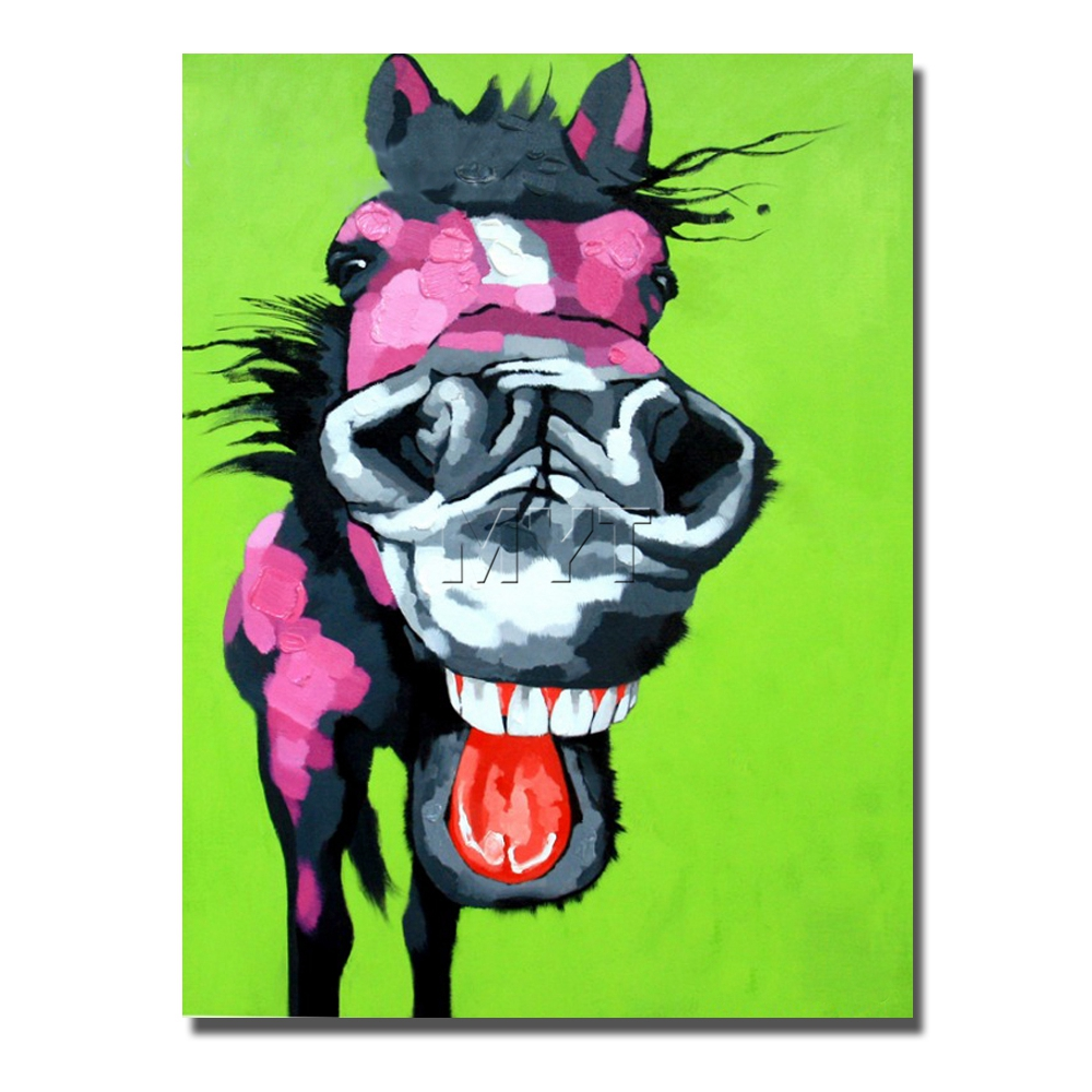 Funny Animal Canvas  Painting Wall Art Home Decoration Home Decor Decorative Fine Art Pictures Handpainted  Pop Art Large Size