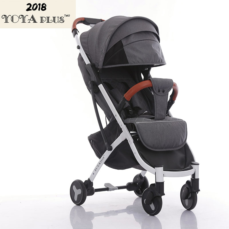 YOYAPLUS 2018 New Style baby stroller light folding umbrella car can sit can lie ultra-light portable on the airplane cartoon airplane style red