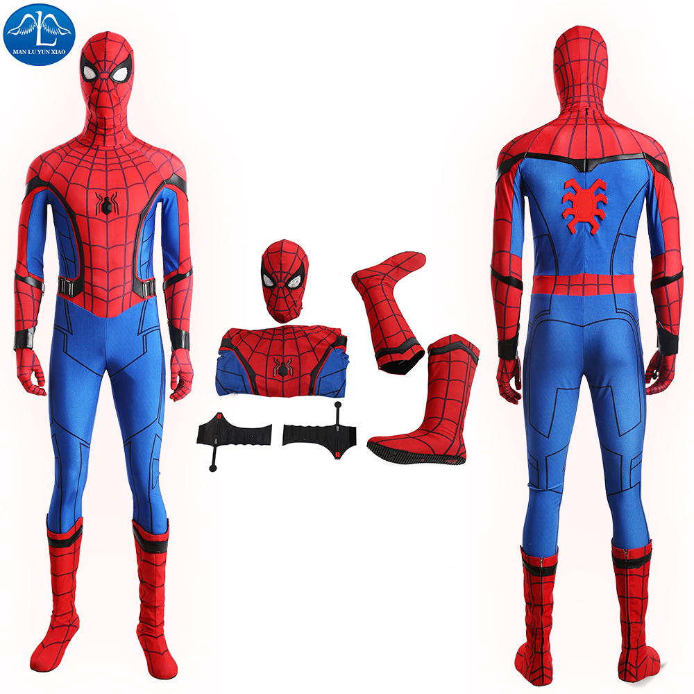 ManLuYunXiao Spiderman Costume Digital Printing Cosplay Spandex Zentai Suit Halloween Costumes For Men