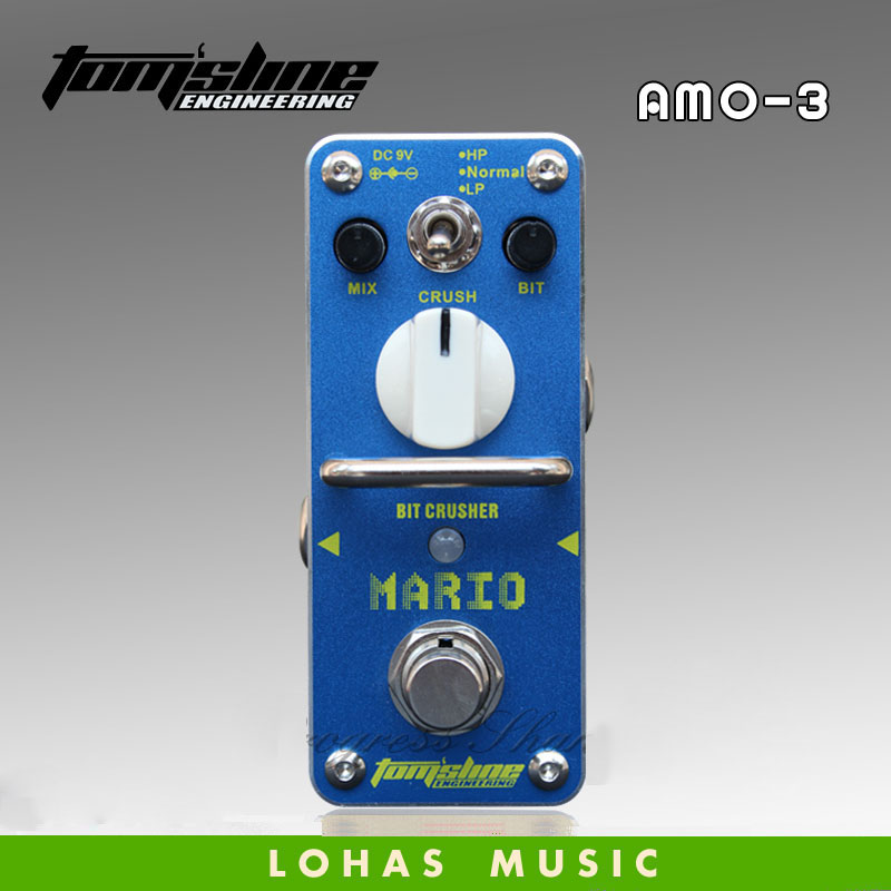 New AROMA AMO-3 MARIO Bit crusher Guitarra Effect Pedal Wide range sampling rate/depth reducing effects True Bypass freeshipping слингобусы ti amo мама слингобусы сильвия
