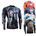 Men's Compression Shirts Workout Fitness MMA Rashguard Compression Tights Base Layer Long Sleeves Thermal Under Top Man's Shirt