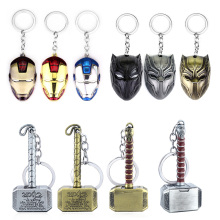 Avengers Endgame Keychain Thor Hammer Iron Man Black Panther Mask Captain America Shield For Keys Men Women