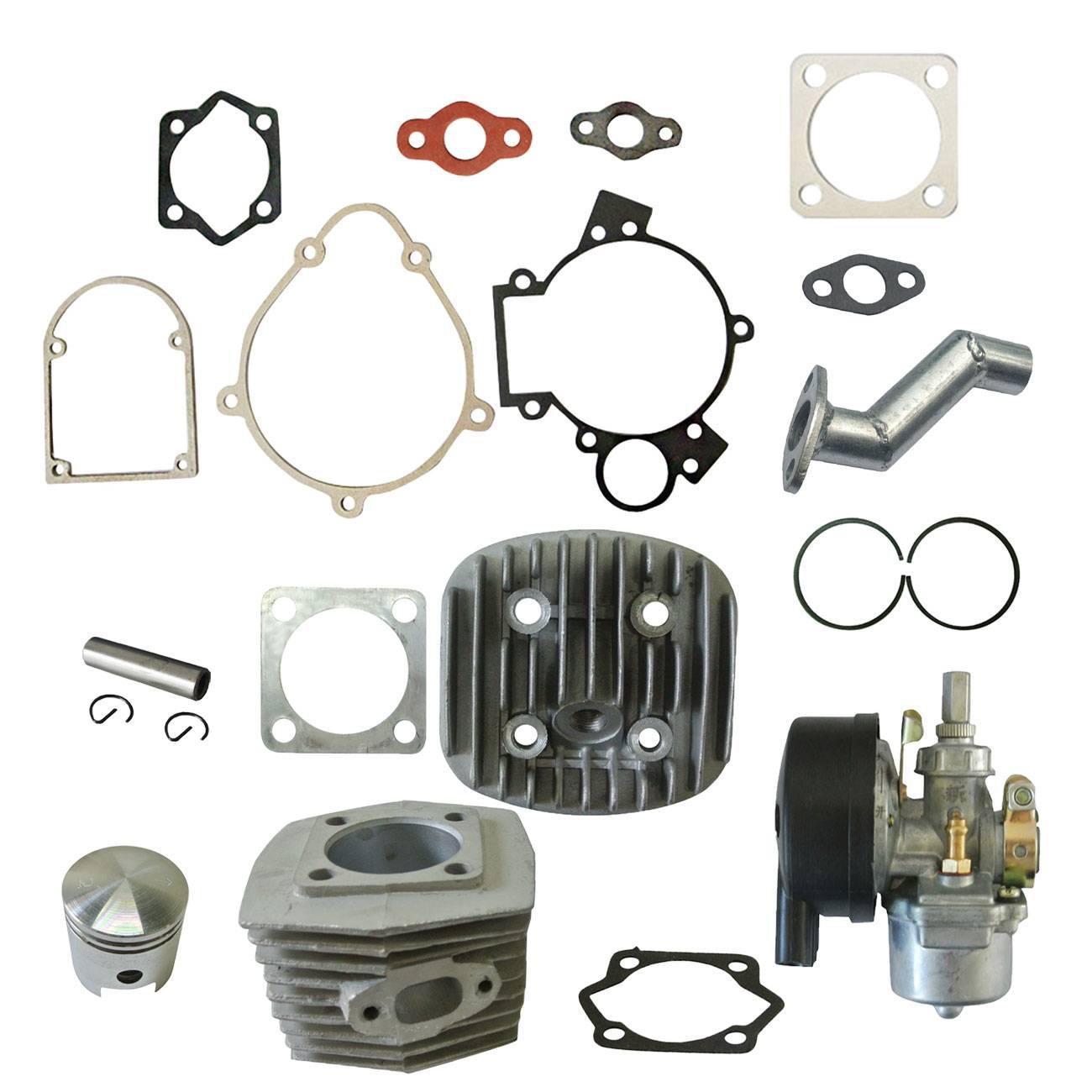 Cylinder Head&1xGasket Kit&Carburetor Fits 66/80cc 2 Stroke Engine Motorized Bicycle