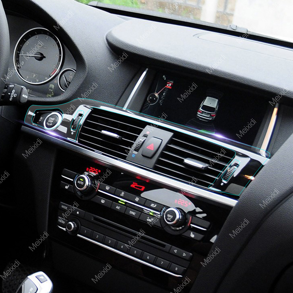 Car interior central control gear panel tpu transparent - Automotive interior protective film ...