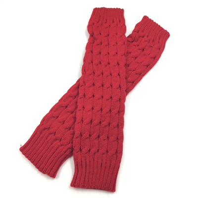 1 пара гетры для женщин дамы зима весна вязать крючком для ног гетры досуг ноги покрытие крючком длинные носки 5 цветов - Цвет: Красный