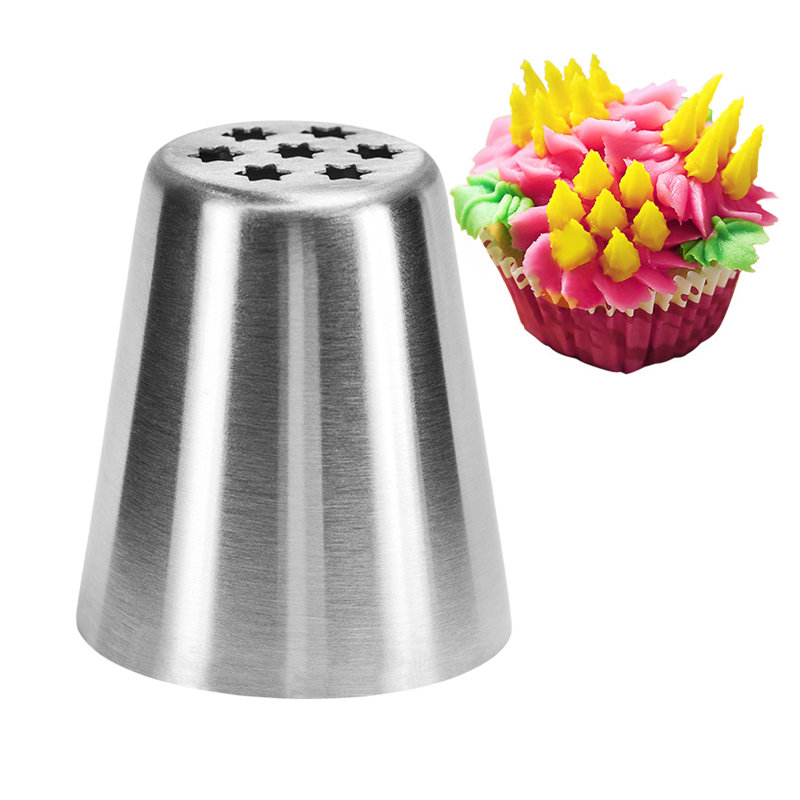 Yongrow Icing Piping Nozzles Bakery Cupcake Cake Decoration Pastry Tips Stainless Steel Baking Mold Rose Petal Nozzle Cream Tool