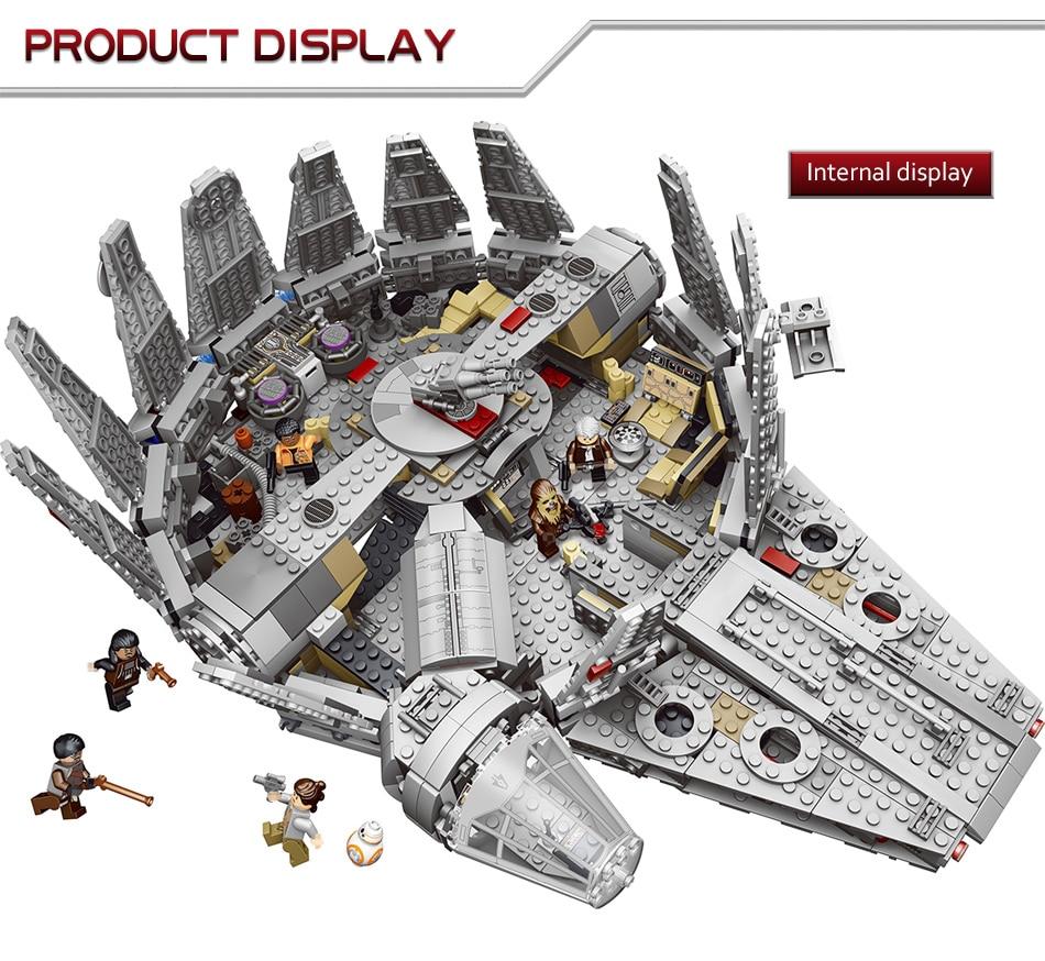 1381 Pcs Star Wars Moc Series The Force Awakens Millennium Falcon