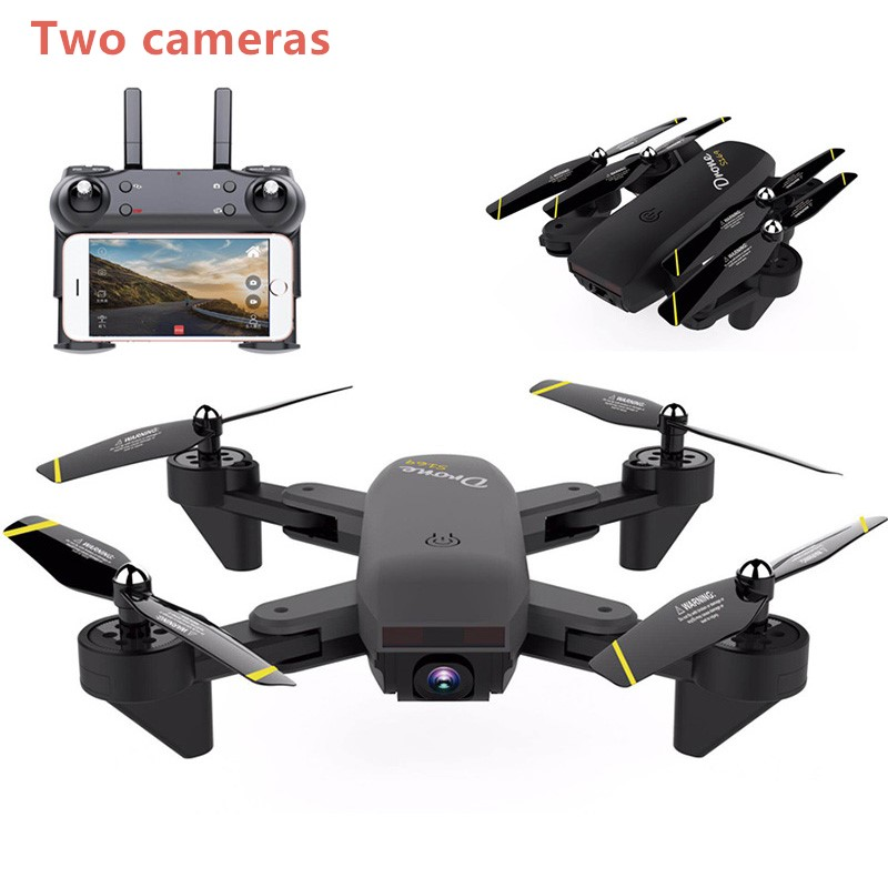 DM107S D107 RC Helicopter Double Camera MINI Fold Selfie RC Drone With Wifi FPV 2MP HD Camera Quadcopter VS SG700 Dron professional camera drone x500 2 4g 4ch fpv rc quadcopter with camera hd 2mp wifi fpv helicopter with camera hd vs x8g qr x350