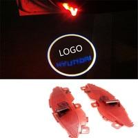 LED Car Door Welcome Laser Projector Logo Courtesy Ghost Shadow Light For For Hyundai Santafe IX45