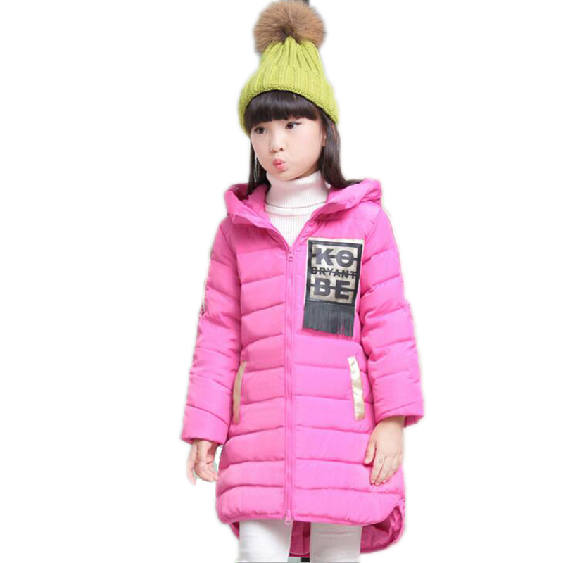 baby girl winter jacket 2017 new tassel letter printed children winter jackets for girls hooded white duck down girls parkas a15 girls jackets winter 2017 long warm duck down jacket for girl children outerwear jacket coats big girl clothes 10 12 14 year