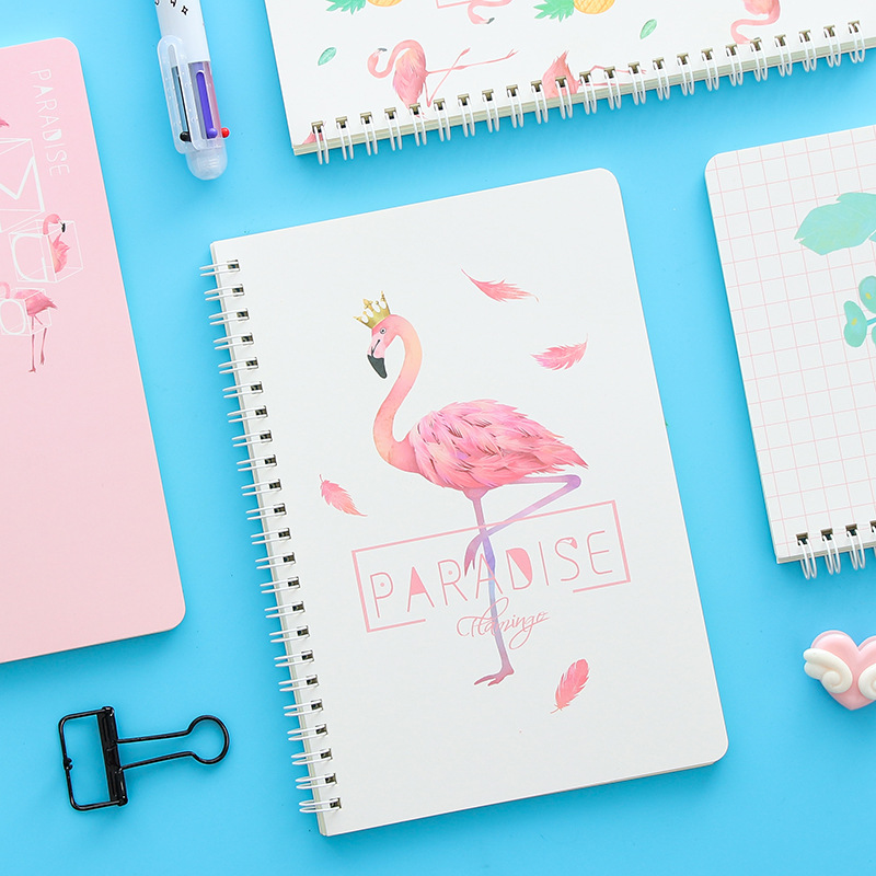 Kawaii Stationery Flamingo Notebook A5 Note Book Student Supplies