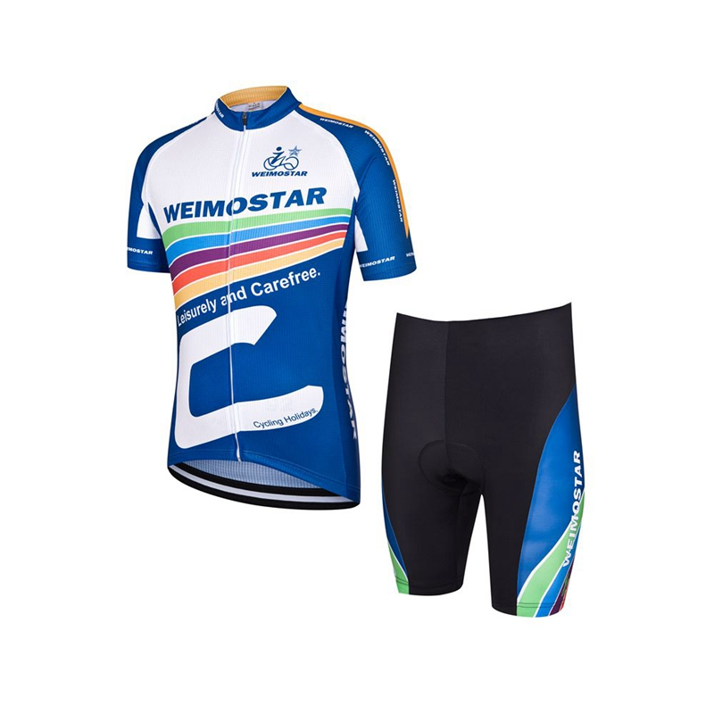 2016 Sportswear MTB bike Jerseys Shorts sets blue short sleeve Cycling clothing Suits bicycle jersey top male summer wear 2016 new men s cycling jerseys top sleeve blue and white waves bicycle shirt white bike top breathable cycling top ilpaladin