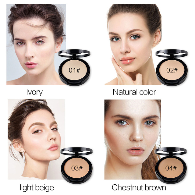 New NICEFACE Makeup Pores Cover Hide Blemish Face Pressed Powder Oil-control Lasting Base Concealer Powder Cosmetics 2