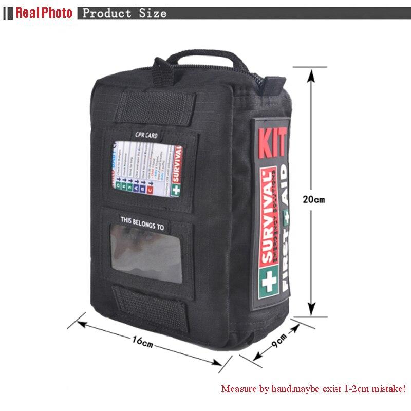 Haute qualité moyen vide ménage multi-couche trousse de premiers soins en plein air sac de voiture sac de premiers soins survie Medine voyage sac de sauvetage - 5