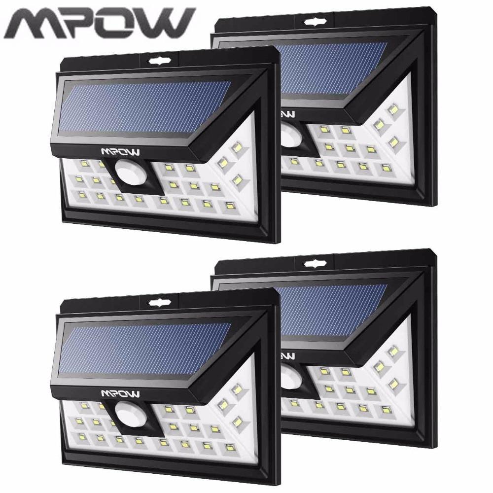 Mpow Wide Angle 24 Led Solar Lampion Security Motion Sensor Light Patio Garden Yard Wall Lighting Energy-saving Night Light Hot
