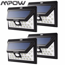 Mpow Wide Angle 24 Led Solar Lampion Security Motion Sensor Light Patio Garden Yard Wall Lighting Energy-saving Night Light Hot