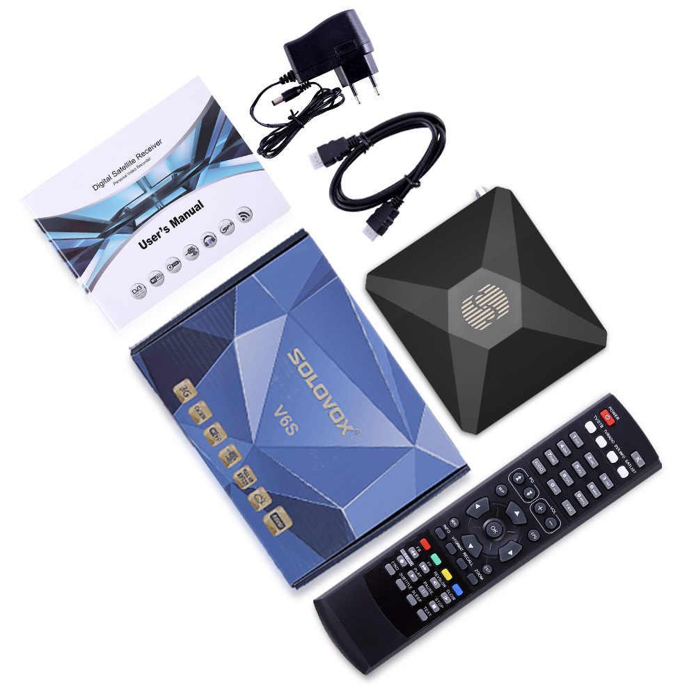 V6S Receptor DVB S2 H 265 Satellite Receiver Support 7 Clines CCCAM PowerVu  DRE Biss key PowerVU Stalker M3U IPTV Spain service