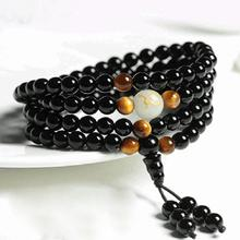 1PC Natural Stone Black Obsidian Magnetic Therapy Bracelet Weight Loss Unisex Slimmy Health Care