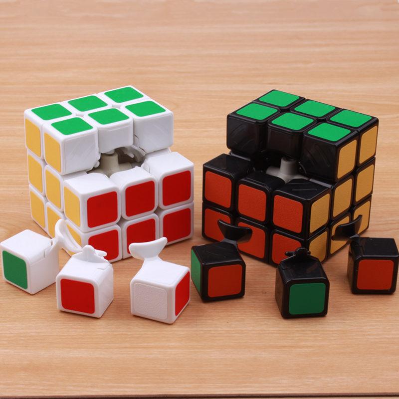 Klassik oyuncaqlar Cube3x3x3 PVC Etiket Bloku Puzzle Sehrli Sürət - Bulmacalar - Fotoqrafiya 5