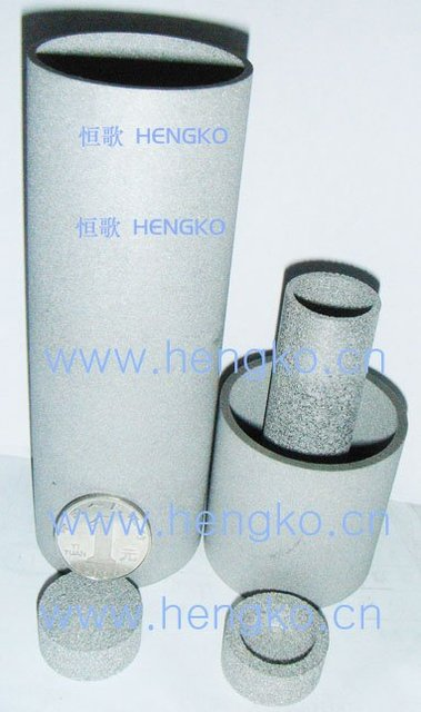 Sintered metal cartridge filter