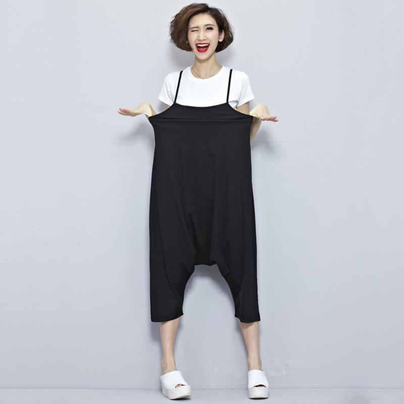 Solid Plus Size Maternity Wear Casual Jumpsuits Pregnant Women Slip ...