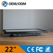 22″ all in one pc industrial touch screen Resolution 1680X1050 computer with inter D525 1.8GHz 2GB DDR3 32GB HDD