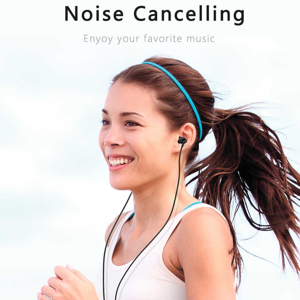 PTM przewodowe sportowe do biegania słuchawki z mikrofonem słuchawki regulacja głośności słuchawki douszne zestaw słuchawkowy do iPhone'a 6 6s Sony fone de ouvido