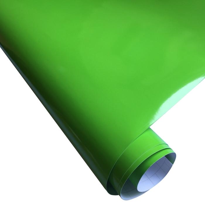 10/20 Вт, 30 Вт, 40/50*152 см черная, глянцевая, виниловая пленка глянцевый Автомобильная фольговая пленка Стикеры с воздушных пузырьков мотоцикл Обёрточная бумага(большой - Название цвета: Apple Green