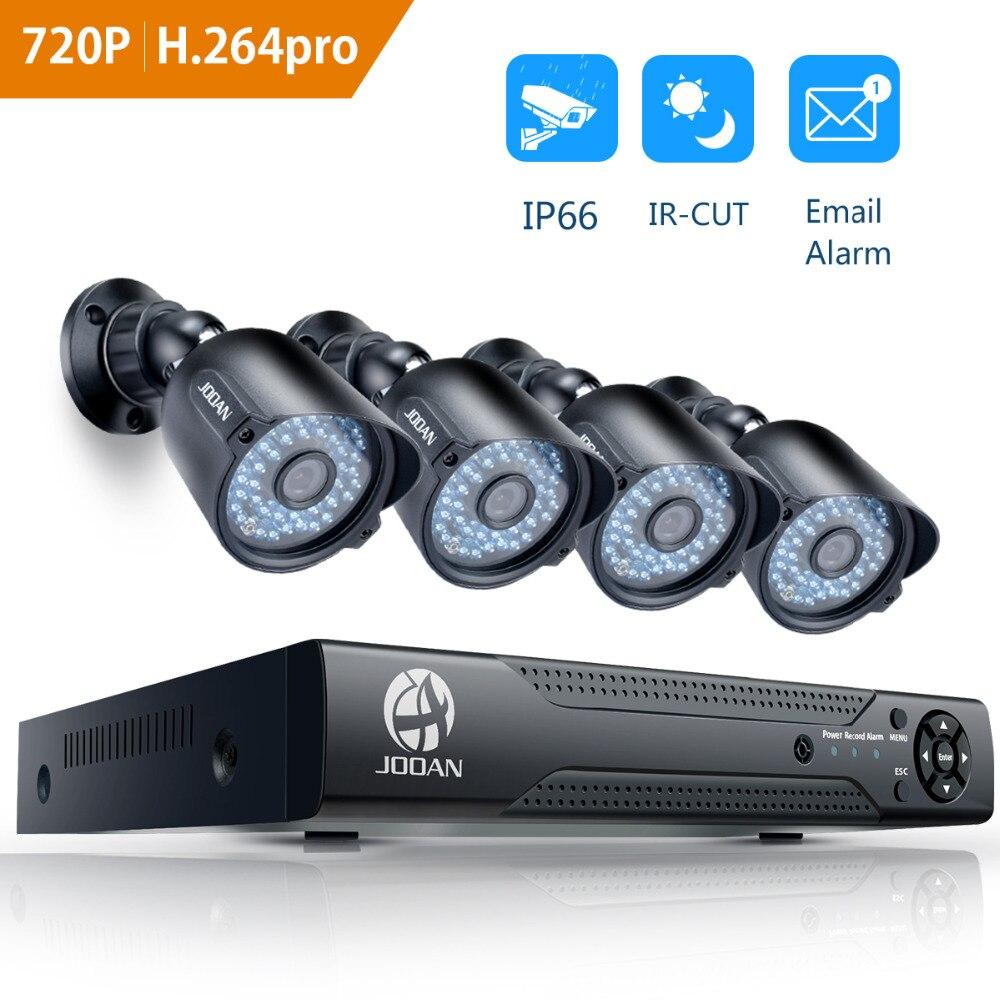 JOOAN 8ch CCTV Security Camera System 4pcs 720P 1280TVL IR Night Vision Outdoor Camera 1080N CCTV