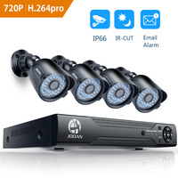 JOOAN 8ch Home Security Camera System 4pcs 720P 1280TVL IR Night Vision Outdoor Camera 1080N CCTV