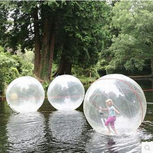 2M Inflatable Water Ball Pool Walking Human Hamster Zorb Transparent Stripes Balls Outdoor For Fun TD0062
