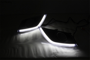 Image 5 - car Flashing 2pcs For Nissan Almera Latio Sunny Versa 2014 2015 2016 2017 2018 DRL Daytime Running Lights Daylight Fog Head Lamp
