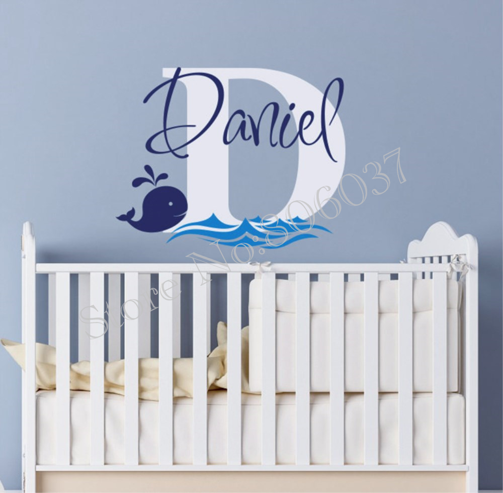 Wall Decals Cute Whale Sticker