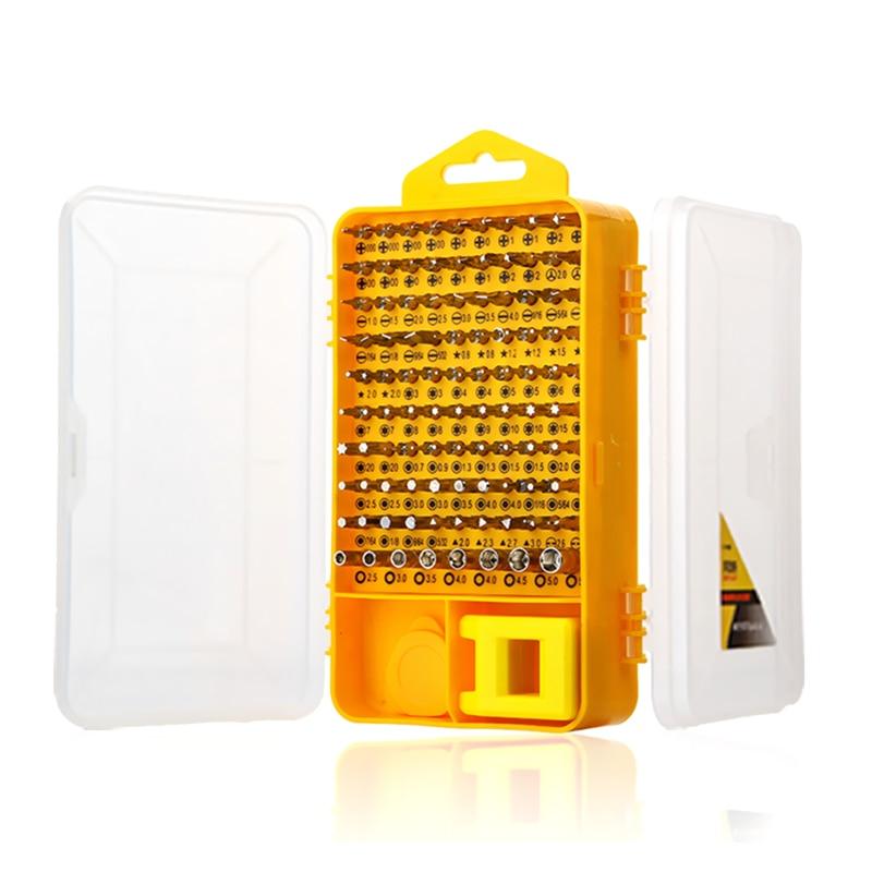 108 vnt tikslių atsuktuvų rinkinys CR-V magnetinių bitų - Įrankių komplektai - Nuotrauka 2