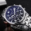 Man Watch Black Stainless Steel Strap Fashion Business Quartz Watch Men Sport Full Steel Waterproof Wrist