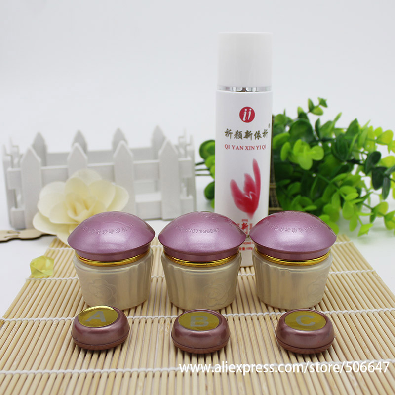 face Beauty Whitening YiQi 2+1effective in 7days Original female  bailitouhong qiyanxinyiqi ABC+Cle+Sample3in1 purple High Cover-in Facial  Self Tanners