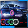 4Pcs LED Car Auto Solar Energy Flash Tire Rim Light Lamp Bright Bicycle Waterproof Spokes