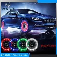 2 Pz LED Car Auto Solar Energy Flash Tire Rim Raggi Della Lampada Della Luce Della Bicicletta Luminosa Impermeabile Luci Del Motore MTB Pneumatico lampada