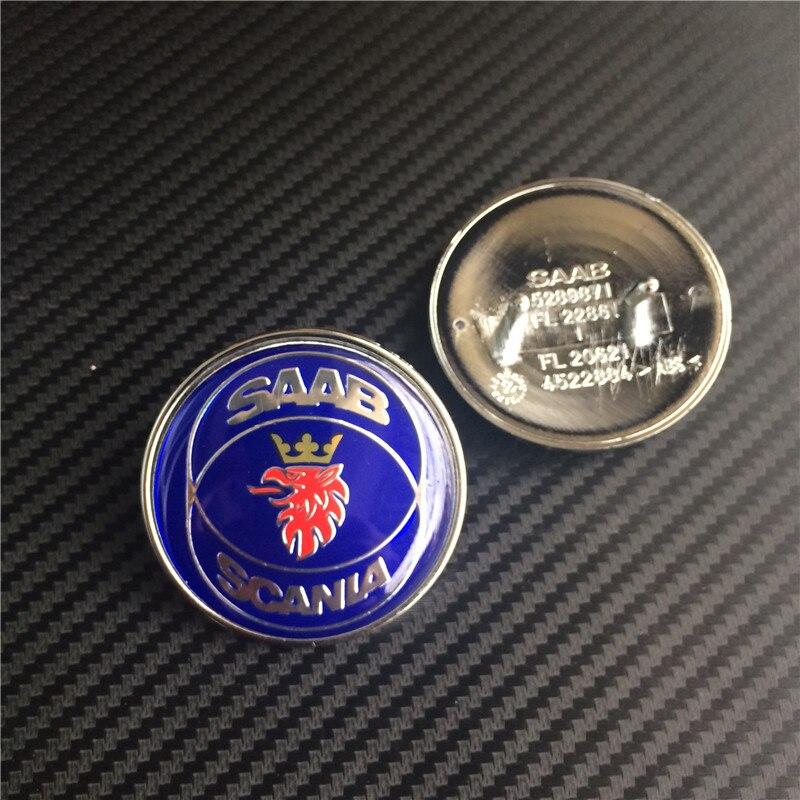 10 шт. 50 мм новый автомобильный Стайлинг SAAB SCANIA синий передний капот эмблема Авто Логотип 2 булавки 5289871 4522884
