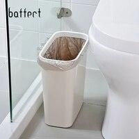 Coverless узкий Урна для ванной комнаты мусорное ведро Кухня Office для дома коробка для хранения свалку мусорный контейнер банок