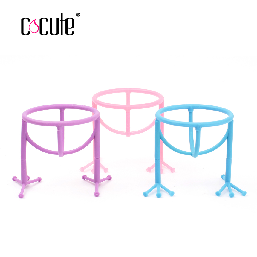 Cocute Beauty Chicken Feet Shape Display Stand Holder Makeup Sponge Cosmetic Puff Shelf Drying Rack Make Up Storage Tool