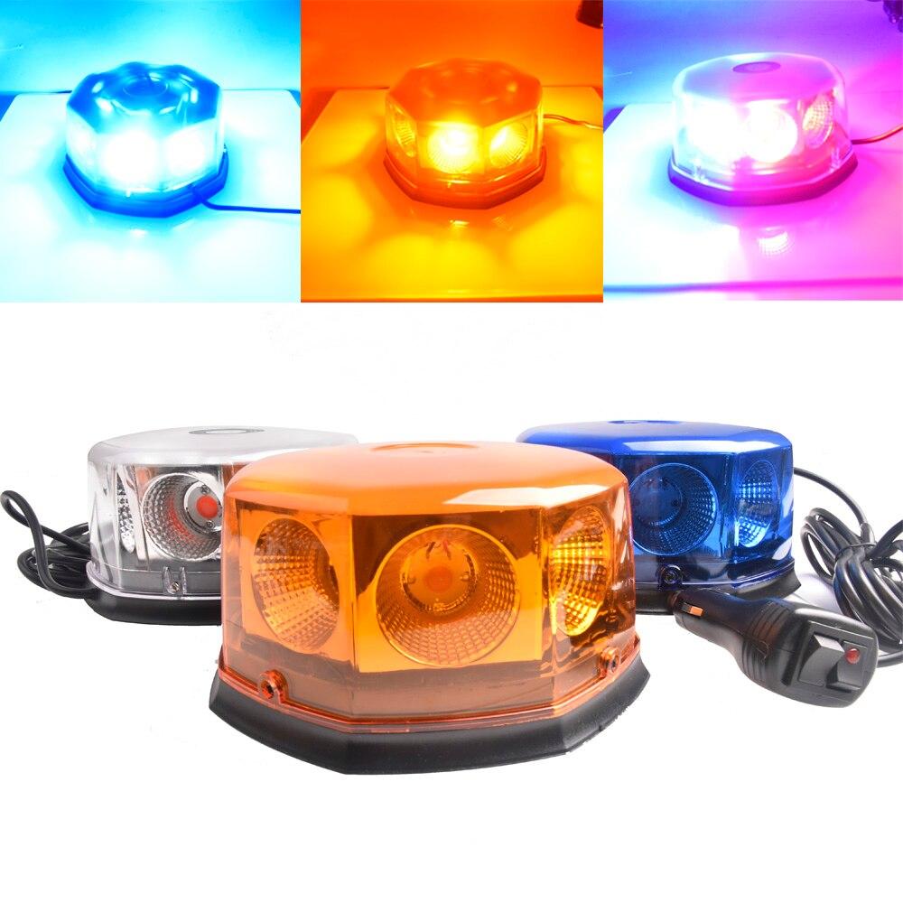 DC12V-24V Super lumineux voiture LED avertissement Police lumière stroboscopique lumière haute puissance circulaire ouverte route clignotant ingénierie toit lumière