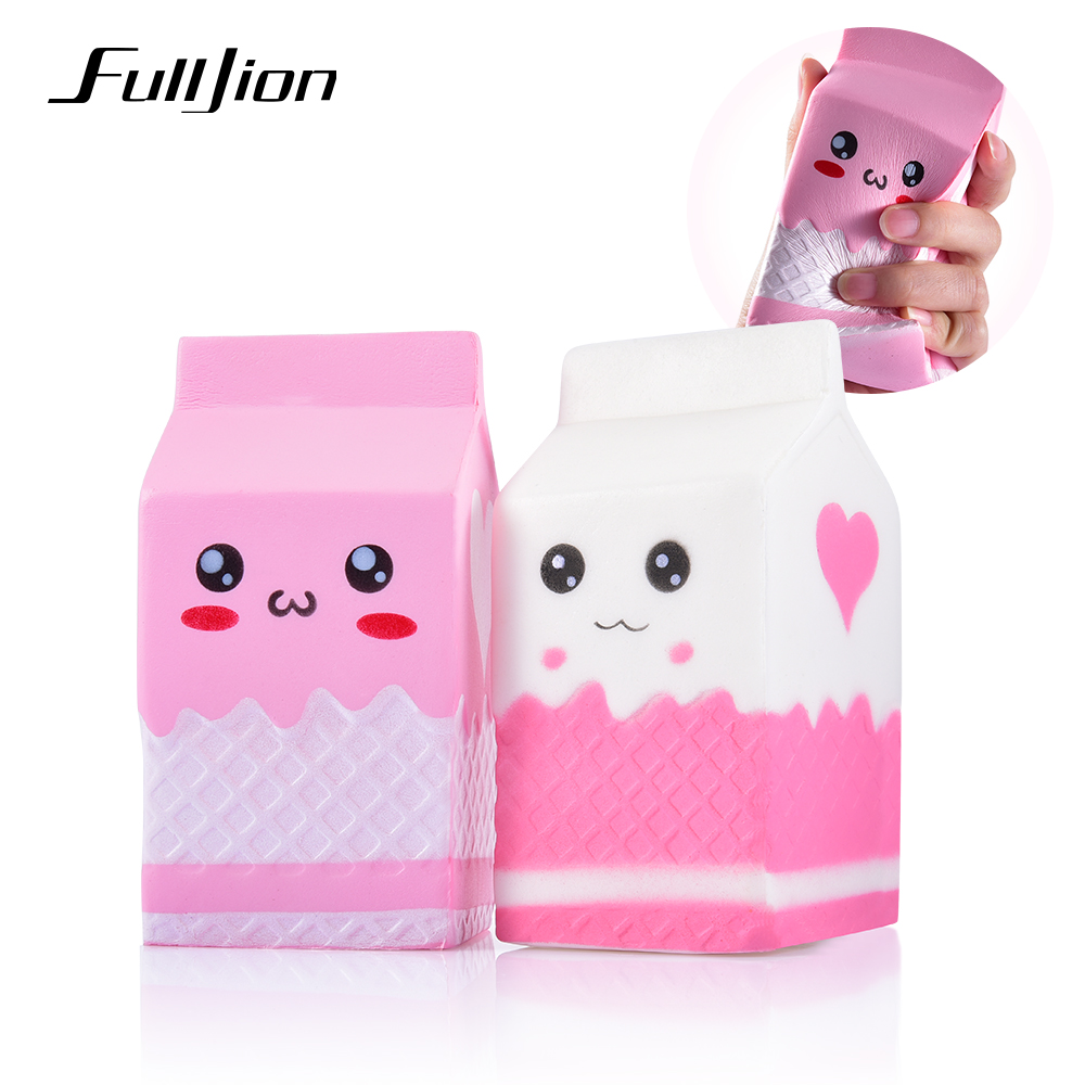 Fulljion Antistress Entertainment Squishy Milk Slow Rising Squishes Novelty Gag Toys Stress Relief Fun Gadget Surprise Kid Gifts